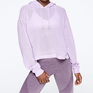 💜PINK Slouchy Mesh Pullover💜